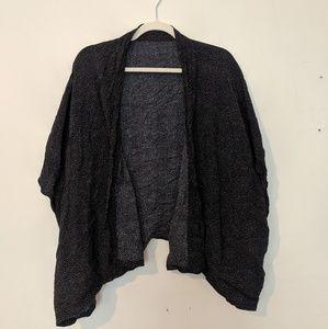 Ann Taylor Loft black kimono shawl